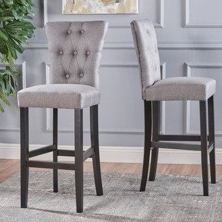 Shop for Pia Backed Fabric Barstools by Christopher Knight Home (Set of 2). Get free shipping at Overstock.com - Your Online Furniture Outlet Store! Get 5% in rewards with Club O! - 23033363