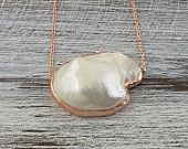 Pearl Necklace-Bridal Necklace-Bridesmaid Thank you gift-Bridal Jewelry-Rose gold plated 925 sterling silver