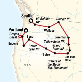 Best  мαρѕ  Images On Pinterest - Map of northwest us national parks