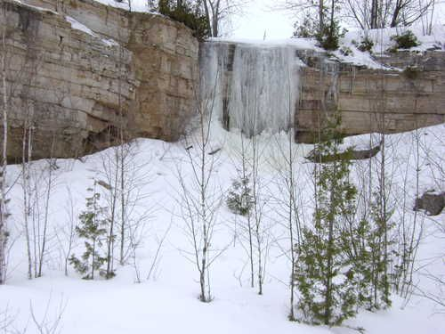 Who would've thought such a cool waterfall was so close to home?  A definite stop for anyone in NE Wisconsin in any season.