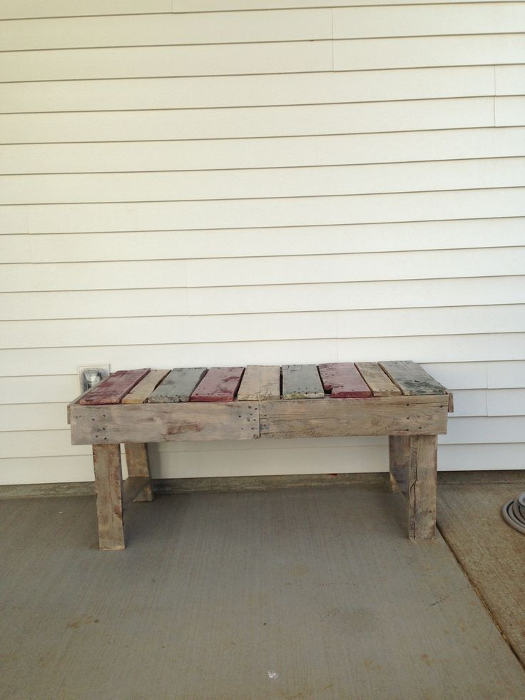 Upcycled Bench Made From Pallets Misc Pinterest