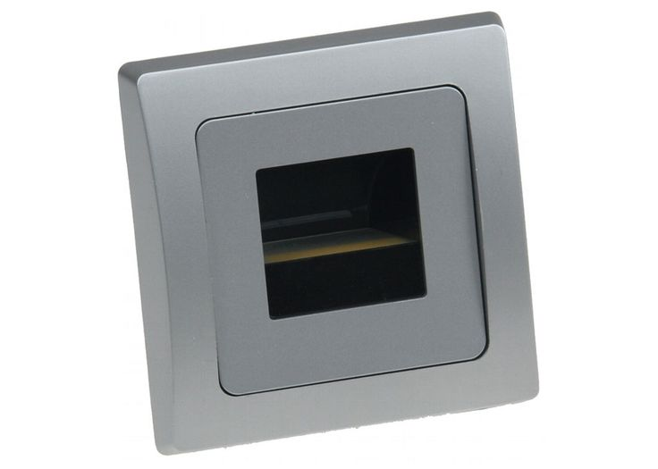 LED-Einbauleuchte DELPHI COB silber Lichtfarbe warmweiß