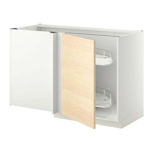Ikea Regensburg Jugendzimmer ~   base cab w pull out fitting  white, Haganäs birch veneer  IKEA