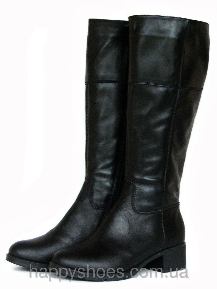 """Купить Зимние кожаные сапоги на каблуке в Запорожье от компании """"HappyShoes"""" - 432479375"""