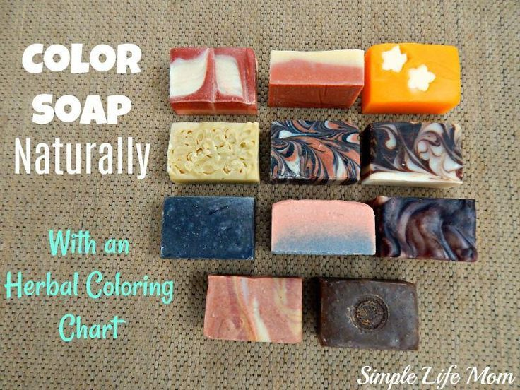 Color Soap Naturally – With an Herbal Coloring Chart ...