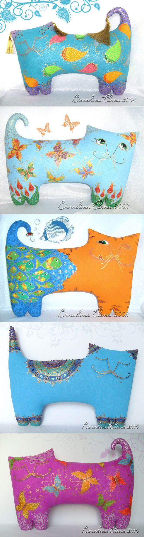 chats Oreillers Elena Borodina | подушки | Постила