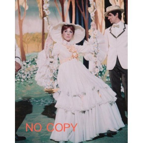大きな写真「メリー・ポピンズ」ジュリー・アンドリュース、白ドレスの感想