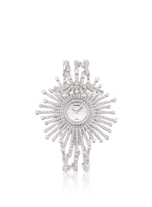 Chanel - WATCH IN 18K WHITE GOLD, YELLOW DIAMONDS AND DIAMONDS (=)