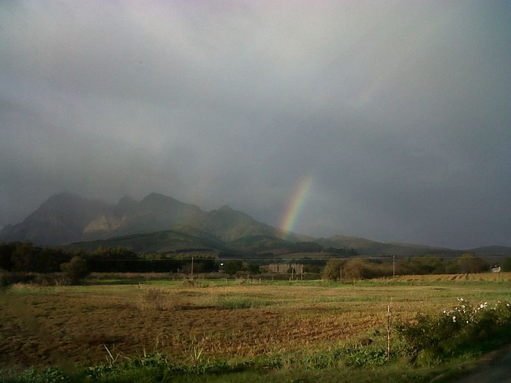 Rainbow over the farm... We are still looking for the pot of gold :-)