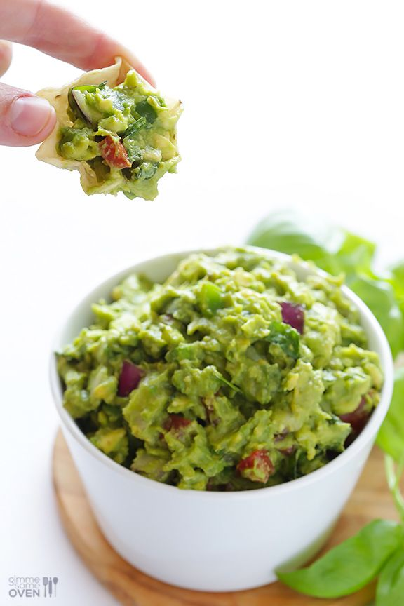 Italian Guacamole -- fresh basil is the rockstar of this delicious twist on classic guacamole | gimmesomeoven.com #appetizer #dip #glutenfre...