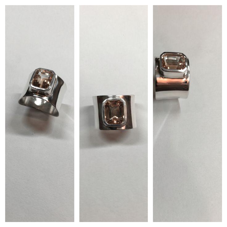 Modern Silver ring by Minette Arlow Jewellery