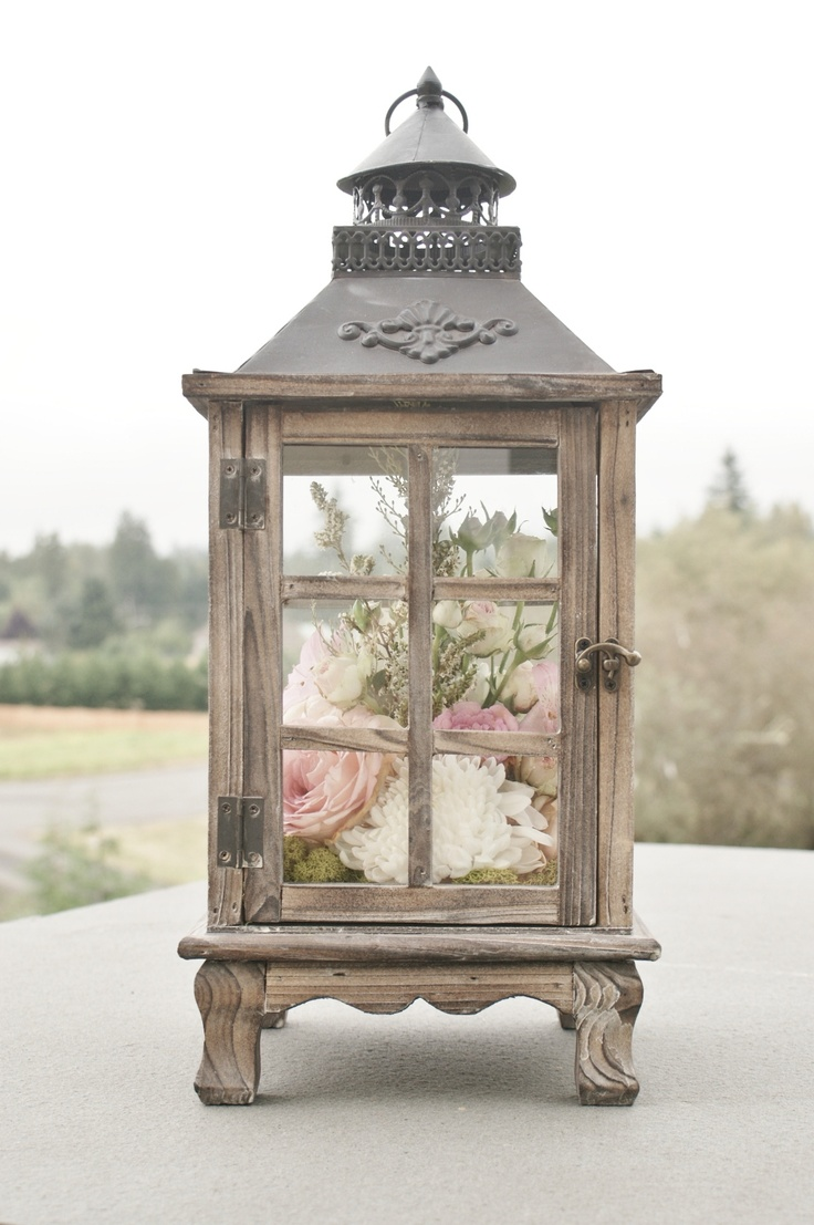 Rustic wood lantern wedding pinterest