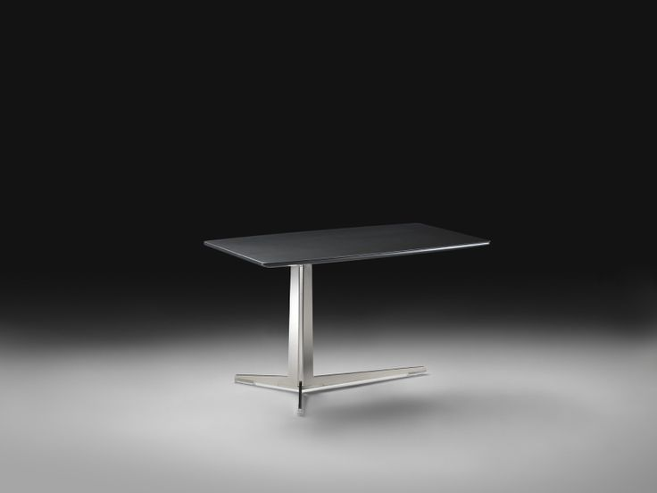 FLEXFORM FLY rectangular small table with frame in metal and top in wood veneers. Designed by ANTONIO CITTERIO.