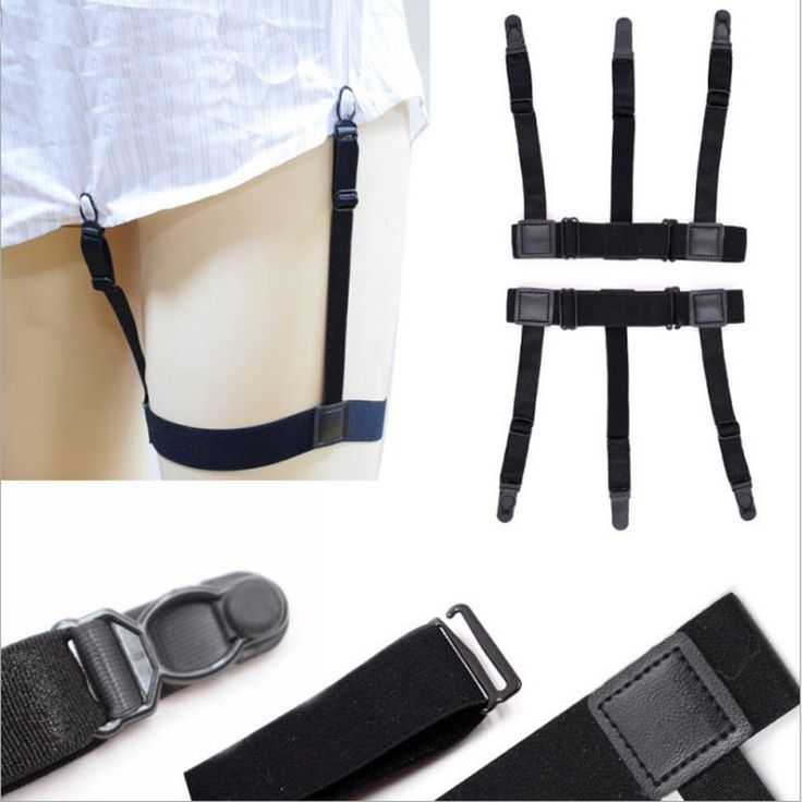 >> Click to Buy << Shirt Stays Holder Gentleman Leg Suspenders Duckbucks buckle Shirt Braces Elastic Uniform Business strap Shirt Garters 1pair #Affiliate