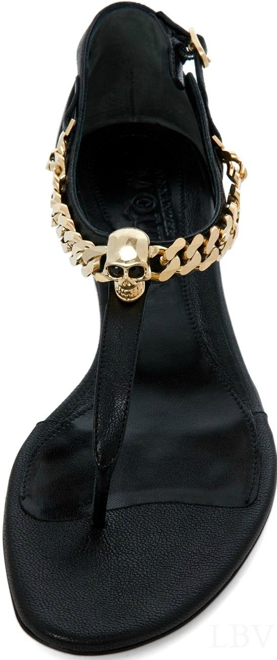 Zapatos de mujer - Womens Shoes - Alexander Mcqueen black city sandal in black | LBV ♥✤