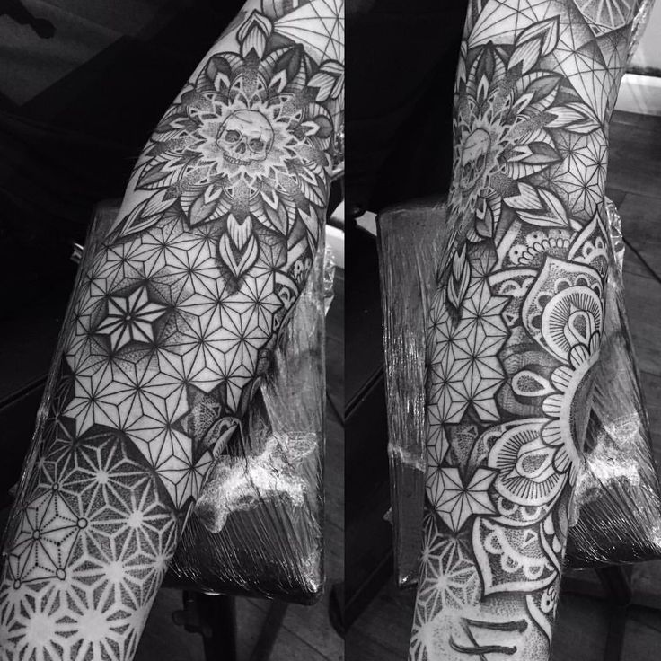 1,181 vind-ik-leuks, 16 reacties - P A U L D A V I E S (@paulokink) op Instagram: 'Dotwork patterned piece for Si today #dotwork #tattoo #mandala #pattern #blackwork #yayofamilia…'