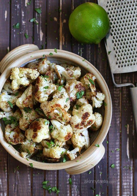 Cilantro-Lime Roasted Cauliflower