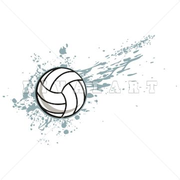 Sports Clipart Image of Volleyball Graphic Splash Beach Sand Splatter