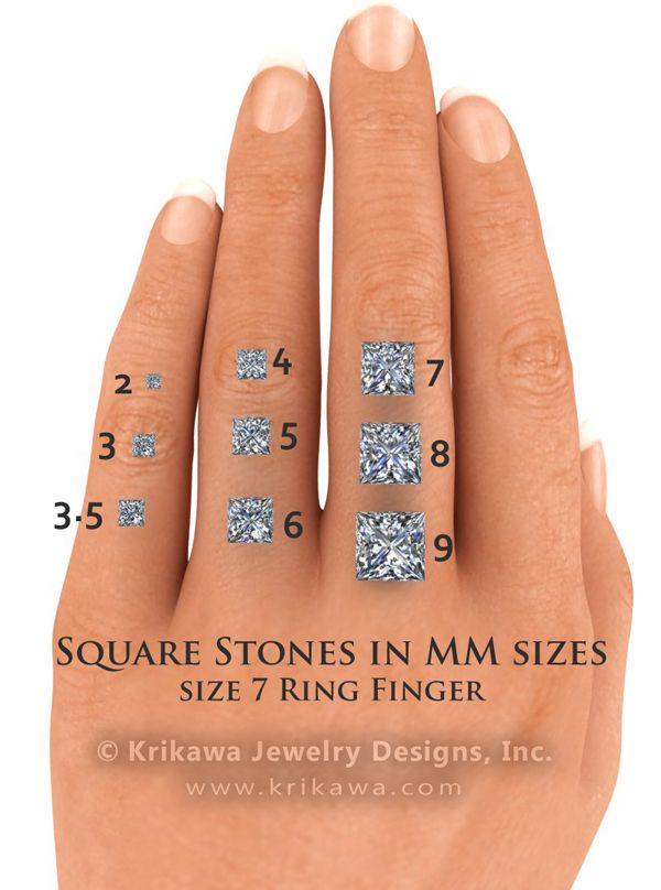 Center Stone Size Charts And Diagrams Style Pinterest
