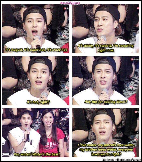 Jackson wang, Water's #1 fan!! | allkpop Meme Center