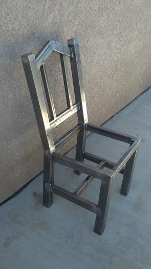 Artículos similares a Hand Made Industrial Chair,  Iron Dining table Chair, Heavy Duty, Modern Iron square Chair,  Wrought Iron Chair, One of a kind. en Etsy