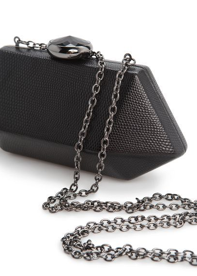 MANGO - Faceted box clutch #FW13