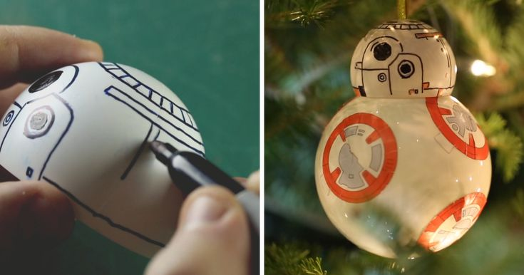 With a new Star Wars movie coming out this Christmas everybody including me who has an obsession about this saga are all over Star Wars Christmas decor.   In this tutorial I'll show you how I made this BB8 droid Christmas tree ornament.