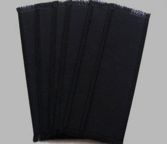 Excited to share the latest addition to my #etsy shop: 6 Cross Stitch Blank Bound Edge Aida Bookmarks In Black 14 Count 26-28 x112 Shipping Included http://etsy.me/2o6UoH2 #supplies #black #crossstitch #bookmarks #blankbookmarks #new #machinemade #handcrafted #crosssti