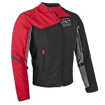 <b>Speed and Strength Backlash Women's Red Textile Jacket</b><br><br>The Speed and Strength Backlash textile motorcycle jacket is made from an AR500 super stretch-fit frame and features removable Vault C.E. approved shoulder, elbow and spine protectors. The jacket boasts reflective trim and logos for better visibility and has a Speed Zip controlled ventilation system for proper air flow. A Molded Strong Arm sleeve adjuster and Lockdown waist adjuster are inclu...