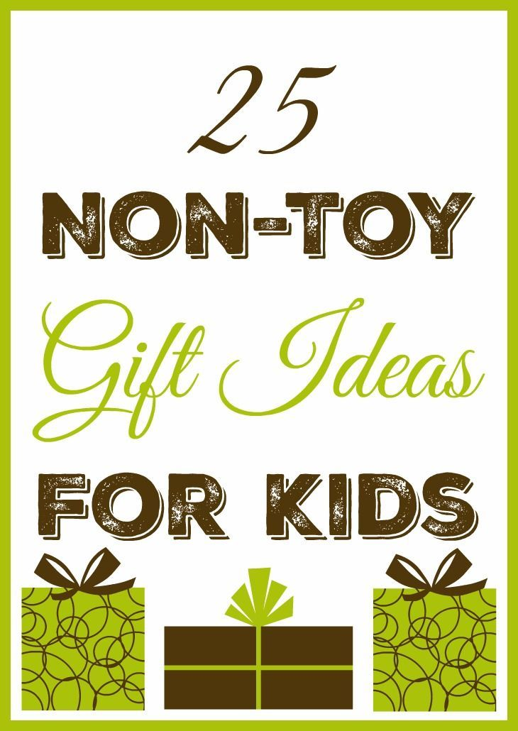 25 Non-Toy Gift Ideas for Kids - Why not give a gift that is NOT a toy? That's right, there are non-toy gift options for kids. I'll even let you in on a secret… the non-toy gifts that my kids receive are usually their favorites!