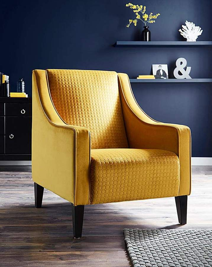 Boheme Accent Retro Hipster Jeloow Mustard Chair Accent Chairs