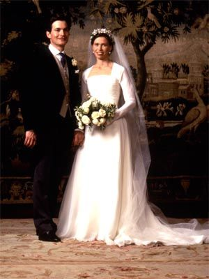 Lady Sarah Chatto wedding portrait. Lady Sarah is the daughter of Princess Margaret and her husband Lord Snowdon.