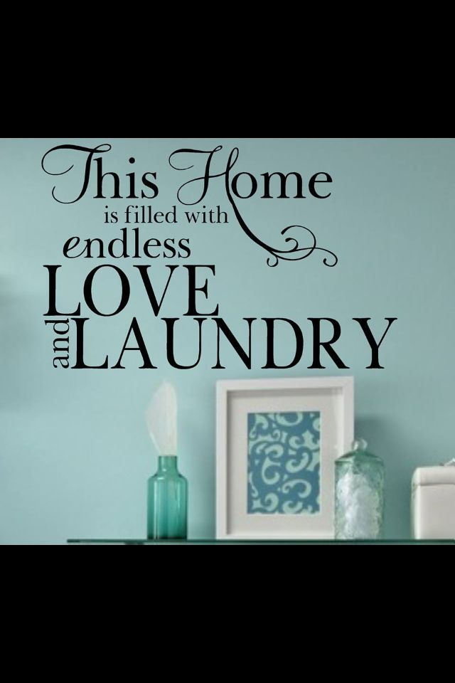 For my laundry room...color and all!!