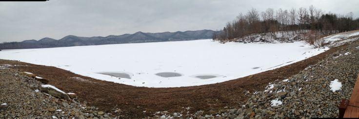 Frozen lake. Cave run, Morehead, Ky.