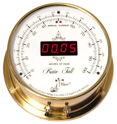 Downeaster Rain Fall Gauge, White Face Available now at the best price only at www.everythingnautical.com  #Nautical #Home #Decor #Gifts