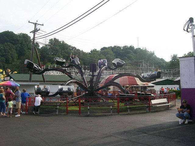 The Spider (bring a vomit bag) Camden Park ~ West Virginia's only amusement park ~ over 100 yrs. old & located in my hometown Huntington! ♥