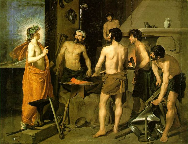 The Forge of Vulcan  1630 (140 Kb); Oil on canvas, 223 x 290 cm (87 3/4 x 114 1/8 in); Museo del Prado, Madrid; No. 1171