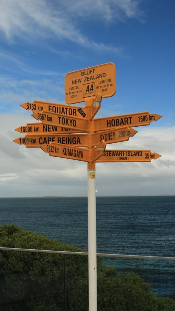 Bluff - New Zealand - The starting point for our journey.