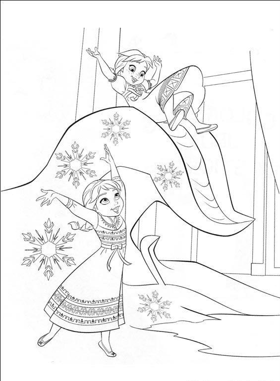 Coloriage Reine Des Neiges Elsa Anna Enfant Frozen Coloring Pages Elsa Coloring Pages Disney Coloring Pages