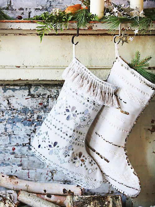 FP One Castine Tassel Stocking at Free People Clothing Boutique #boho #bohemian #christmas