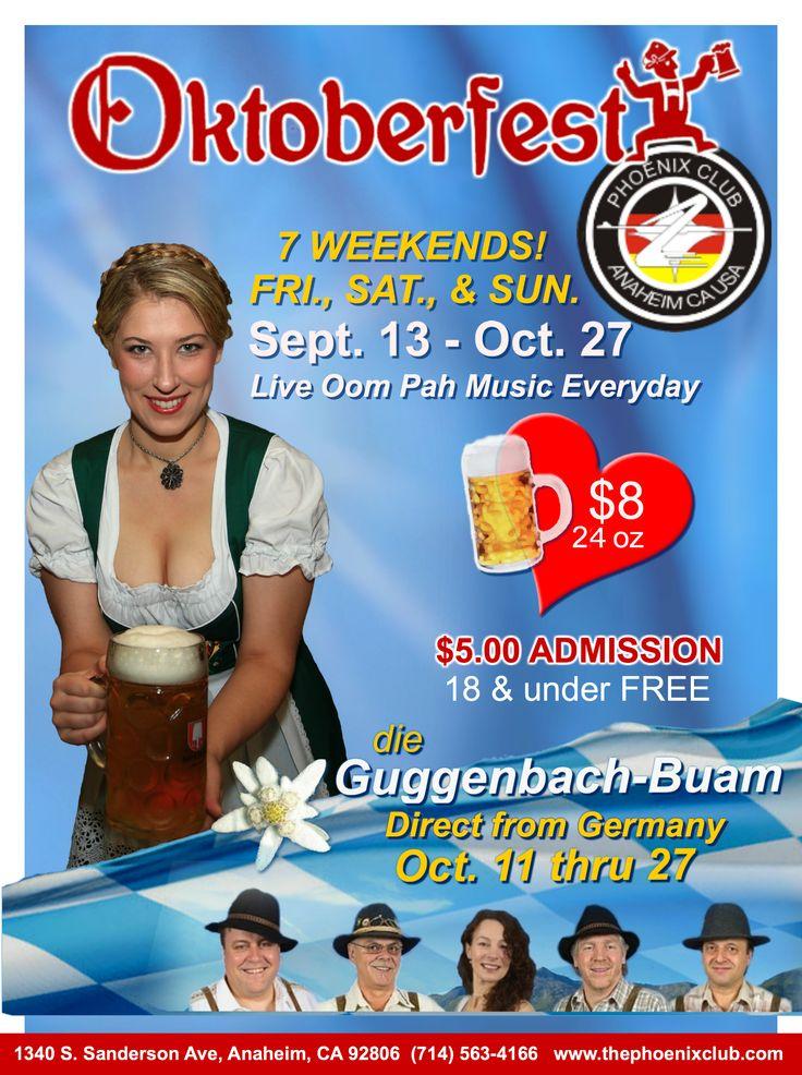 Oktoberfest Ticket And Food Giveaway For Phoenix Club In Anaheim