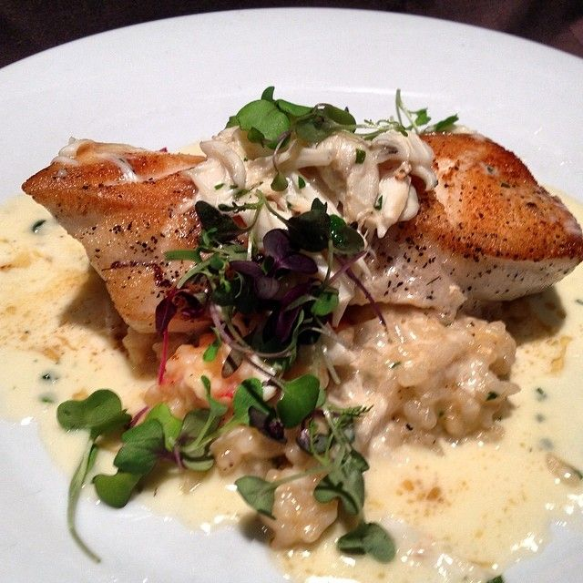 Council Oak: Pan Seared Chilean Sea Bass with Lobster Risotto and King Crab Nage | Award-Winning ...