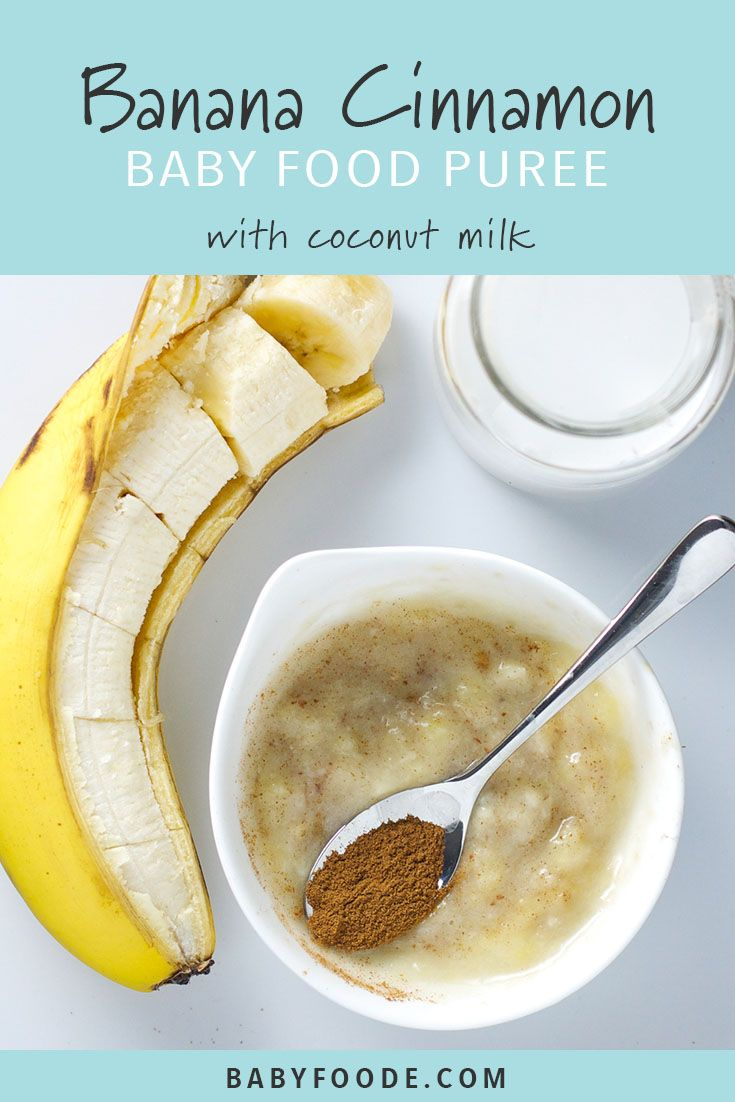 Banane + Kokosmilch + Zimt-Babynahrungspüree  – 4+ Month Baby Food Purees