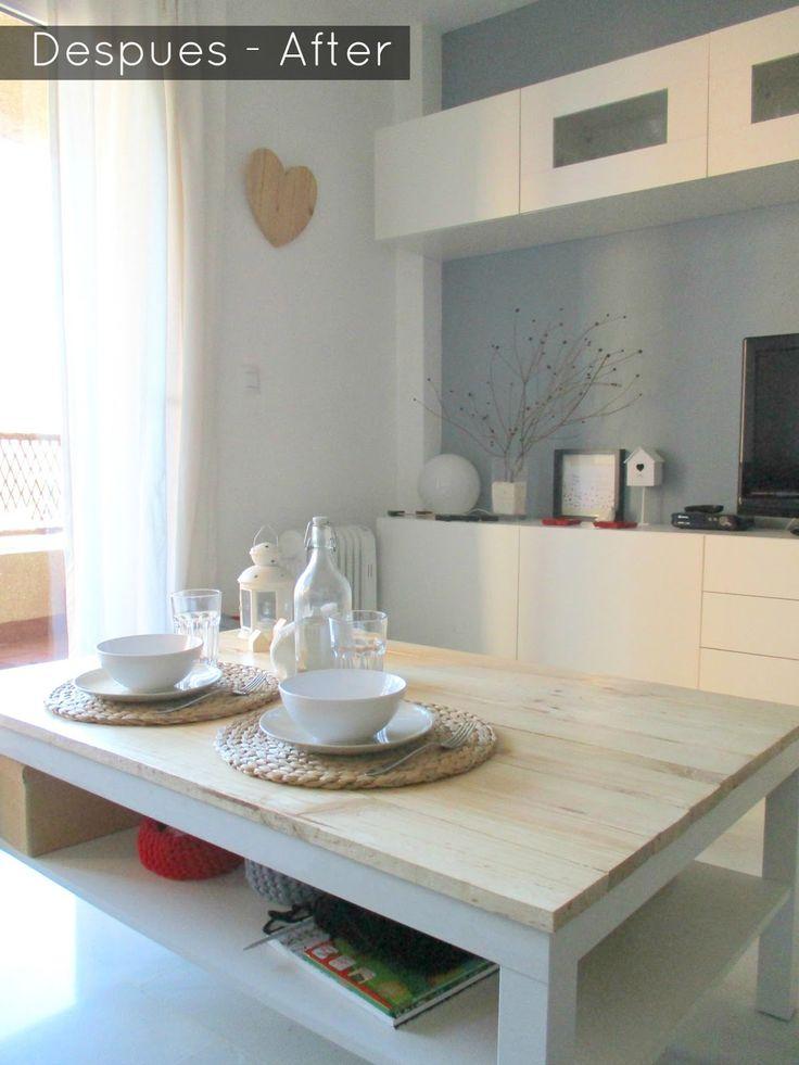 La Buhardilla - Decoración, Diseño y Muebles: Antes y Despues: Renovando mi mesa Lack de Ikea