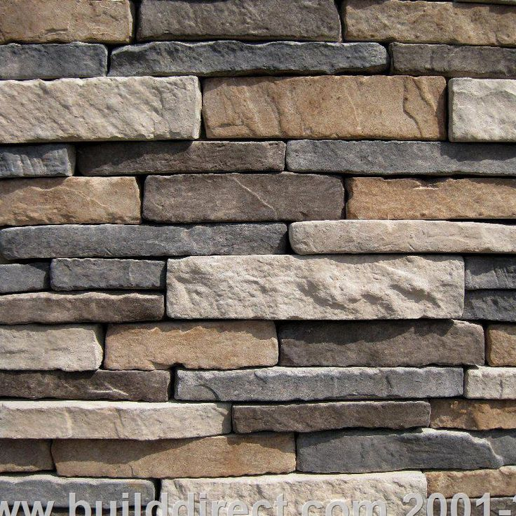 """BuildDirect®: Black Bear Manufactured Stone - Southern Stacked Stone Collection in """"Ozark"""""""