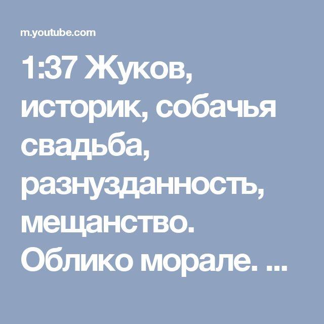 1:37 Жуков, историк, собачья свадьба, разнузданность, мещанство. Облико морале. Хроники московского быта - YouTube