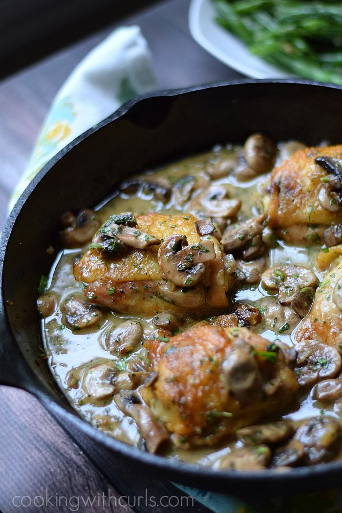 Chicken au Champagne by cookingwithcurls #Chicken #Mushrooms #Champagne