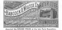 Babcock & Wilcox Steamboilers 1893 Ad Picture