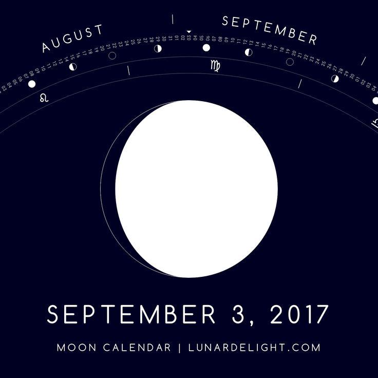 Sunday, September 3 @ 10:45 GMT  Waxing Gibboust - Illumination: 92%  Next Full Moon: Wednesday, September 6 @ 07:04 GMT Next New Moon: Wednesday, September 20 @ 05:30 GMT