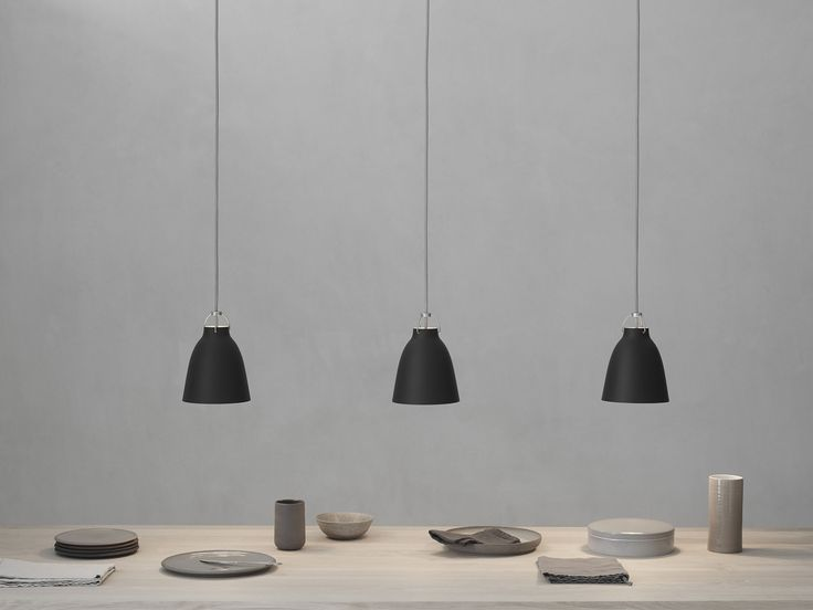 Pendant lamp / contemporary / aluminum / glass - CARAVAGGIO Matt by Cecilie Manz - Lightyears - Videos